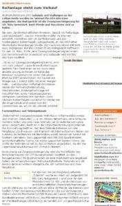 Zeitungsartikel Verkauf Lüttgesheide