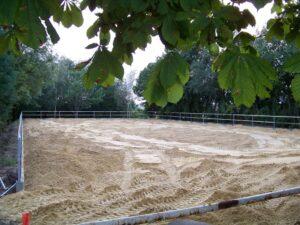 Sand möglichst gleichmäßig verteilen